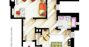 Floor plan of Jessica Jones Apartment / Office of JESSICA JONES.