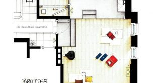 "Floor plans from the movie ""Barefoot in the Park"" with Robert Redford and Jan"
