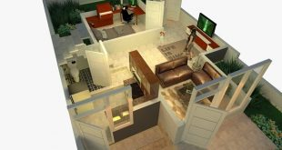 Here is the story of the interior layout of the first floor and the second floor of a modern house, Minima