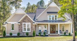 JUST STARTED! Architectural Designs Exclusive New American House plan has stunned