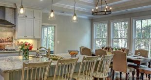 Kitchen and dining room of The Tucker Hausplan 1341! Built by River Landing