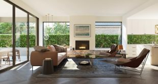 Living area at Mount Waverley House, designed by