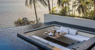 Pool design has come this long. Take a look at this beautiful sunken pool lounge