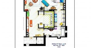 Poster versions of the floor plans of Carrie Bradshaw's apartment by SEX & THE
