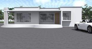 Residential building with 3 bedrooms (one of them is self-contained), living room,