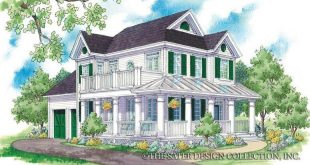 "The ""Cabrini"" house plan is a pretty house plan in the country house style with a circulation p"