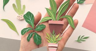 These little cottage plants made of cut paper make us so happy! Make your own with our EK