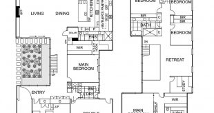 This 5 bedroom + study floor plan includes a downstairs bedroom with