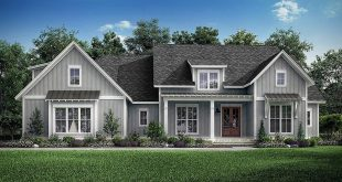 This exclusive design shows how stylish a one-story home can be. The open layout