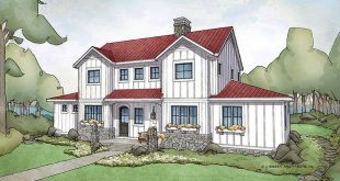 This exclusive plan (the Bayridge) by Visbeen Architects gives you farmhouses