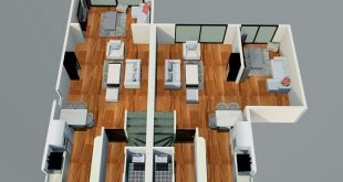, Three levels of a couple house. Details per house: - master bedroom with ba