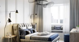 bedroom , , Project visualization for the design studio MANHATTAN (Perm). , ,