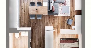 Just because your studio is less than 60 square meters, it does not have to be like one