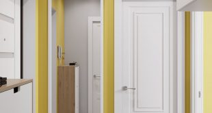 Visualization of the corridor of a one-room apartment in Dolgoprudny 3D visualization
