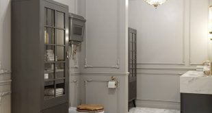 Bath in shades of gray , , Project visualization for the design studio MANHATTAN (g