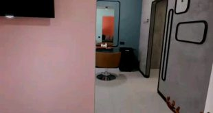 2 panoramas of a beauty salon The designer , , ,