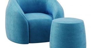 3D model of armchair and stool BALOO manufacturer ALIVAR Model is available for download.