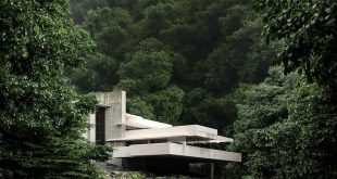 House with waterfall Visual of. , , ,