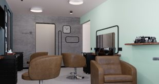 More views of the men's hall in a beauty salon The designer , , ,