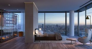The panoramic city - view from the bedroom Visual of. , , ,