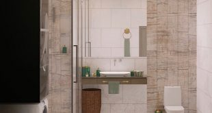 Visualization of a bathroom in a country house