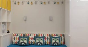 Visualization of a nursery for 2 boys in a modern style of 20, 6 sqm