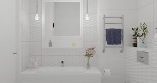 Visualization of the bathroom. The customer already knew what he wanted, it was necessary to help him present