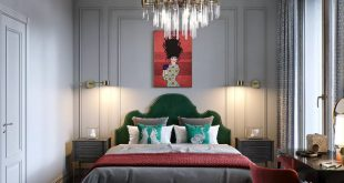 bedroom , , Visualization of the interior project for the designer Natalia Solovieva (