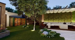 3D visualization of the home garden Architect: Soghomonyan Architects Location: A