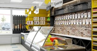 BEER STORAGE PROJECT , , Visualization of a store interior design project for design