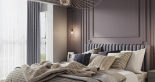 Here are some more interesting angles + evening lighting Visualization of a bedroom 2