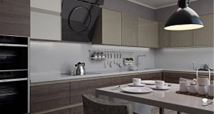 Visualization of the kitchen in loft style of 25 sqm The project was completed for a young man. M