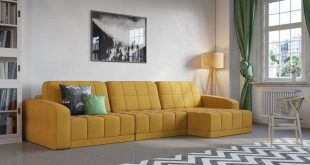 Yellow sofa in the interior , Meanwhile I look more and more towards Bl