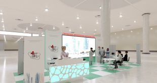 Design and visualization of the exhibition stand. Which color scheme is more interesting? ,