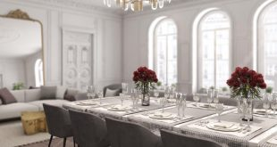Dining area in modern French style