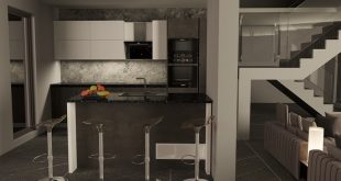 Living room with integrated kitchen. Living room with kitchen