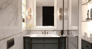 Private apartment bathroom design with PULI Architects