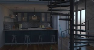 The 3D model of the kitchen in my latest project is starting to come together