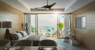 Smart example of a guest room that spends an elegant vacation on the beach.  I've heard from customers that evening scenes are useful for presentations.