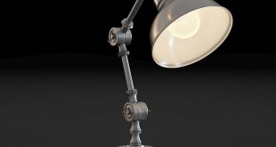 3D model of a table lamp made in Autodesk 3ds max, X-ray renderer. 3D mode