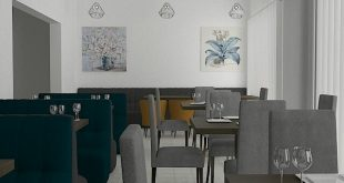 3D restaurant color / light check .... render quickly ,