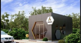Design project of the pavilion for the sale of honey. Customer LLC Aman Green Food