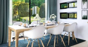 Green dining room Design & 3D visualization 3dsMax / Vray / PS