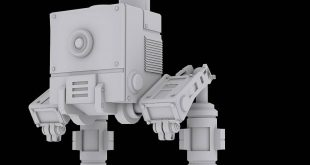 LOW POLY MODEL SCI-FI SIGNAL ROBOT (POLY COUNT-13,000)