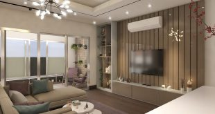 Living room and kitchen design.