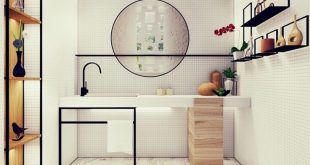 Minimal and modern lines Bathroom design