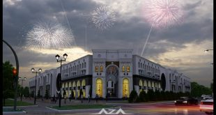 Project of an office mall in Bishkek. workers district