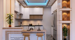 Sheet  Executive design of the modern kitchen