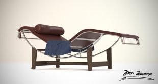A lounge chair made and with -