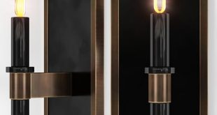 Arteriors Home Griffith BLACK ENAMEL Modeling and visualization Mikhailenko Ekaterina